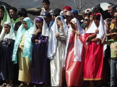 Good Friday in San Ignacio: these are community events. Photo credit Mazatlán Interactivo