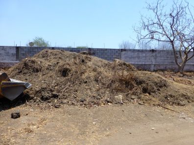 Tons of dirt—that's a 4-meter-high wall in back