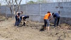 The shoveling crew