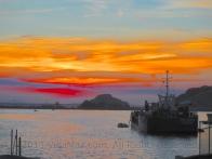 Sunrise over the harbor