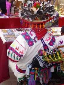 Huichol couple from the rear