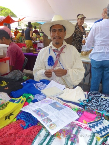 Tepehuano gentleman doing basketry