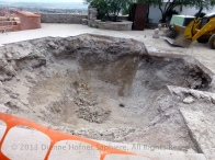 On top of the cerro, a hole for the new cross?