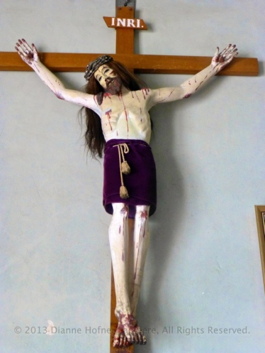 Crucifix in the sanctuary