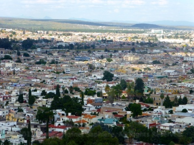 View of the city from up top