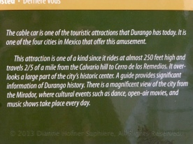 Sign for the gondola