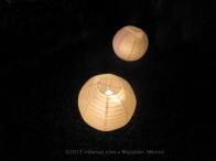 Candle-lit lanterns