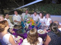 Lance from Hotel Playa and his table group