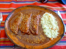 Best enchiladas moles since we were in Oaxaca