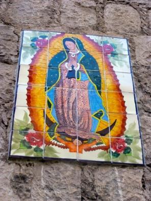 La Virgen de Guadalupe in tilework