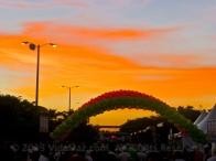 Sunrise over the finish line