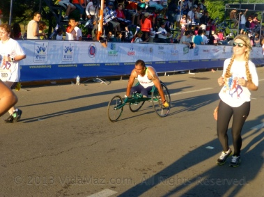 A competitor in a wheelchair
