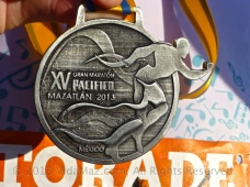 Closeup of the medal