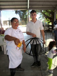 Fourth prize winner: wrought iron pot rack
