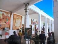 Inside the Palacio Municipal