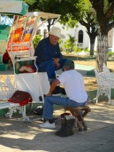 Main square of Concordia, Sinaloa
