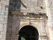 The side door of the church