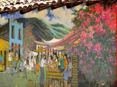 Mural on the town square