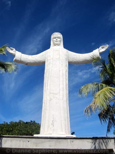 The huge statue of Jesus