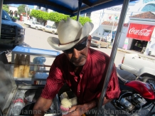 An ice cream seller