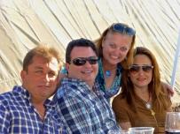 Chuy, Memo, me and Martita. Que viva Deportenis! Besotes!