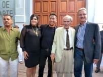 Artist, Mayor and artist's family