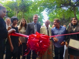 The ribbon cutting