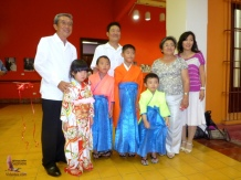 Esperanza with her family members