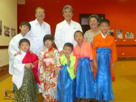 The ambassador, the senator, and Esperanza with the gorgeous kids