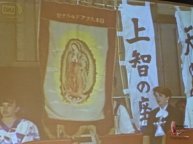 Our dear Mexican virgin being celebrated by the Japanese-Mexican community