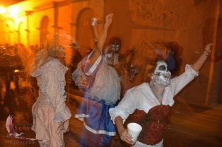Ghostly revelers; I really enjoyed this fortuitous pic!