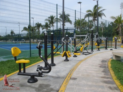 New public exercise equipment at city park