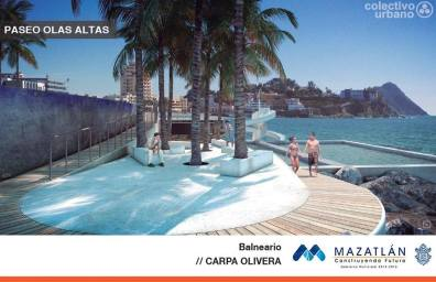Architect's renderings of the new Carpa Olivera pool in Olas Altas