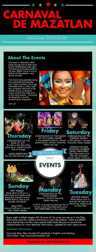 Carnaval Schedule 2015