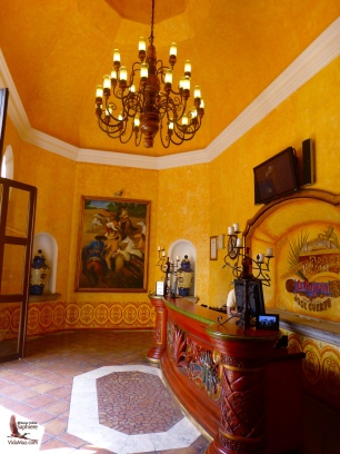 The reception area