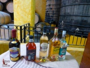 The tequilas available for sampling