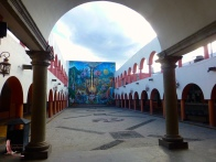 A municipal building with a gorgeous mural
