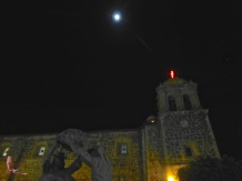 Moon over the church