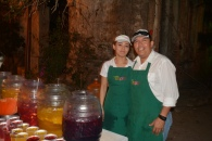 Manuel and an employee from Tropico Aguas Frescas
