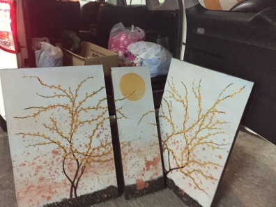 Original paintings by Tikio for the silent auction