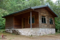 Our cabin, which slept six (two bedrooms, 3 beds in each room)