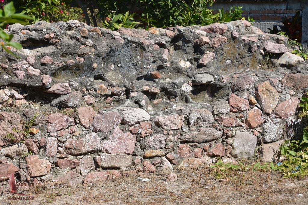Wall of the original church
