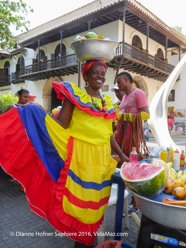 Una palenquera, María, a fruit seller from Palenque, Colombia