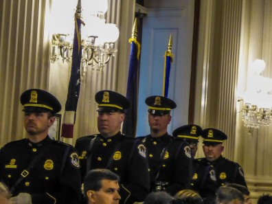 The color guard, Capitol police