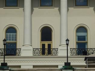 "Closeup of ""America's front porch"""
