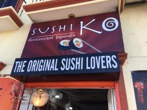 Sushiko's sign on the street
