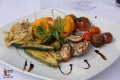 Fire-roasted vegetable salad