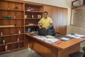 Rene in his office at the new installations