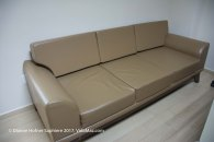Sofa and a recliner for visitors in each room