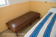 Cot for visitors in each room